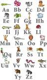 字母表动物 免版税库存图片