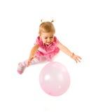 逗人喜爱婴孩的轻快优雅 免版税库存图片