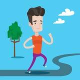 Иллюстрация вектора молодого человека идущая Стоковая Фотография