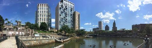 Городской Провиденс, Род-Айленд панорамный Стоковые Фотографии RF