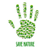 Экологический плакат предохранения от экологичности Стоковая Фотография RF