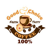 Икона кофе Шильдик рекламы кафа Стоковые Фото