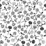 Предпосылка картины роз флористическая безшовная Стоковые Изображения