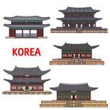 Исторические виски и архитектура Кореи Стоковые Изображения