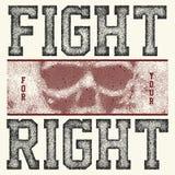 Бой для вашего правого лозунга Стоковая Фотография RF