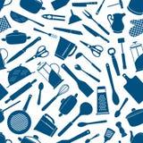 Συσκευές κουζινών, άνευ ραφής υπόβαθρο εργαλείων Στοκ Φωτογραφία