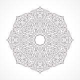 мандала Этнический декоративный индеец элементов, ислам, арабские мотивы Стоковая Фотография