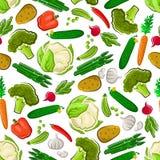 Предпосылка свежей еды фермы вегетарианской безшовная Стоковая Фотография RF
