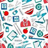 Предпосылка стоматологии и зубоврачевания безшовная Стоковые Изображения RF