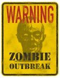 Вспышка зомби плаката Стоковое Изображение RF