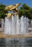 伍迪喷泉 库存照片