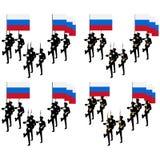 仪仗队在俄罗斯 免版税图库摄影
