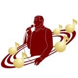 歌手和音符 免版税库存照片