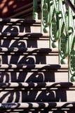 栏杆影子 免版税库存图片