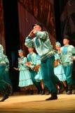Ρωσικά παραδοσιακά φεστιβάλ χορού των περιχώρων εργοστασίων - εύθυμος τετράχορος Στοκ φωτογραφίες με δικαίωμα ελεύθερης χρήσης