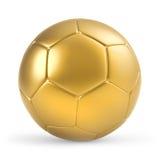 χρυσό ποδόσφαιρο σφαιρών Στοκ Φωτογραφία