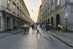 Οδός στην Κρακοβία Στοκ Εικόνες