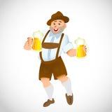 Баварский человек с большим стеклом пива Стоковое Изображение RF