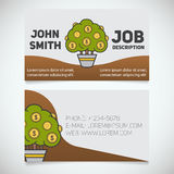 Шаблон печати визитной карточки с логотипом дерева денег Стоковые Изображения RF