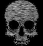 Графический дизайн футболки черепа Стоковые Изображения RF