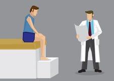 Иллюстрация вектора консультации терапией спорта Стоковое Изображение RF