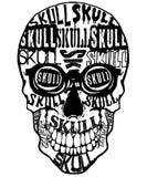 Графический дизайн футболки черепа Стоковая Фотография RF