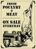 肉家禽犯罪 库存图片