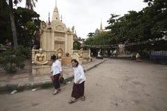 Буддийский висок в Пномпень Стоковые Изображения