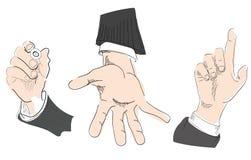Τα χέρια, χεριών, που δείχνουν, αυτό δίνουν γράφουν το σκίτσο Στοκ εικόνες με δικαίωμα ελεύθερης χρήσης