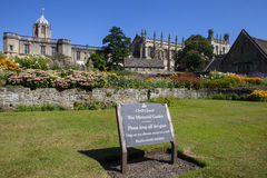 Сад церков Христоса мемориальный в Оксфорде Стоковое Изображение