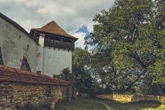 Ενισχυμένοι τοίχοι πύργων και υπεράσπισης εκκλησιών Στοκ Φωτογραφίες