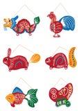 Παραδοσιακό σύνολο φαναριών σχεδίων φεστιβάλ φεγγαριών Στοκ εικόνα με δικαίωμα ελεύθερης χρήσης