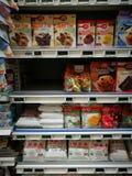 烘烤在食家超级市场需要部分 免版税库存照片