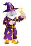 Шарж указывая волшебник Стоковое Изображение RF