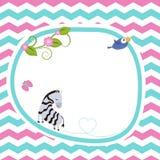 Поздравительная открытка с зеброй Стоковая Фотография RF