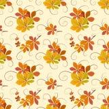 листья осени делают по образцу безшовное Стоковое фото RF