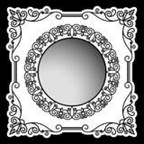 Винтажная рамка с орнаментальными углами Стоковые Фото
