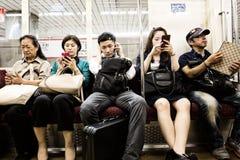 Пассажиры пригородного поезда Стоковое Изображение RF