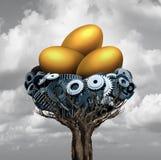 Яйц из гнезда дела Стоковое Изображение