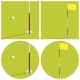 在高尔夫球题材的例证  免版税库存图片