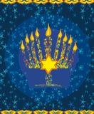 Еврейская карточка Хануки праздника Стоковая Фотография RF