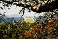 китайский мраморный висок горы Стоковое Изображение