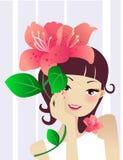 спа девушки цветка Стоковые Фото
