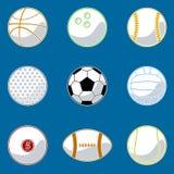 球体育运动向量 免版税库存图片
