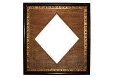 古色古香的框架金黄照片 图库摄影