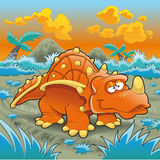 滑稽的三角恐龙 免版税库存照片