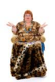 肥胖妇女 免版税库存照片