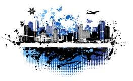 艺术都市背景的都市风景 免版税库存图片