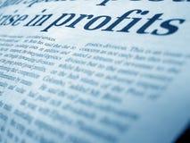 商业新闻 免版税库存图片