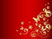 χρυσό διάνυσμα πεταλούδων Στοκ εικόνα με δικαίωμα ελεύθερης χρήσης